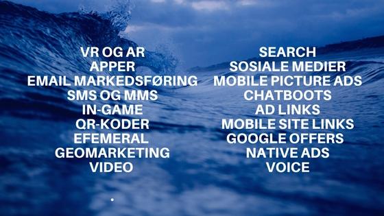 mobil markedsføring typer
